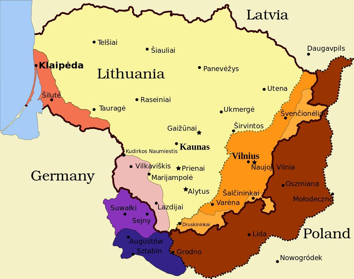 litauen kart Kaunas Litauen kart   Kart over kaunas Litauen (Northern Europe  litauen kart