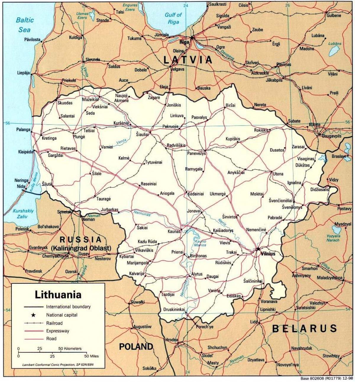 litauen kart Litauen kart   Kart som viser Litauen (Northern Europe   Europe) litauen kart